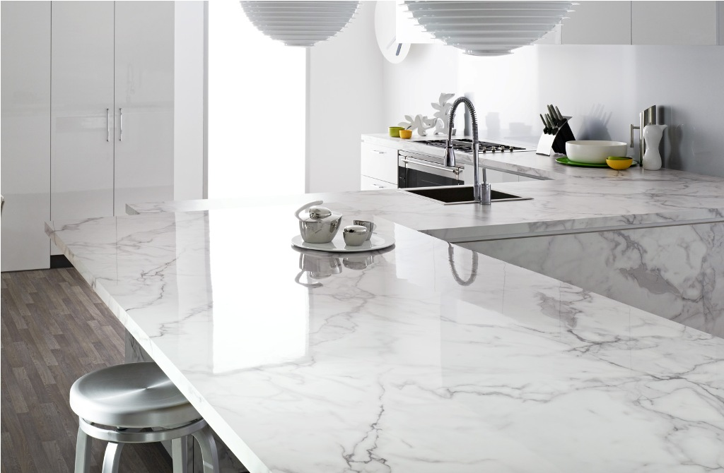 photo of marble counter