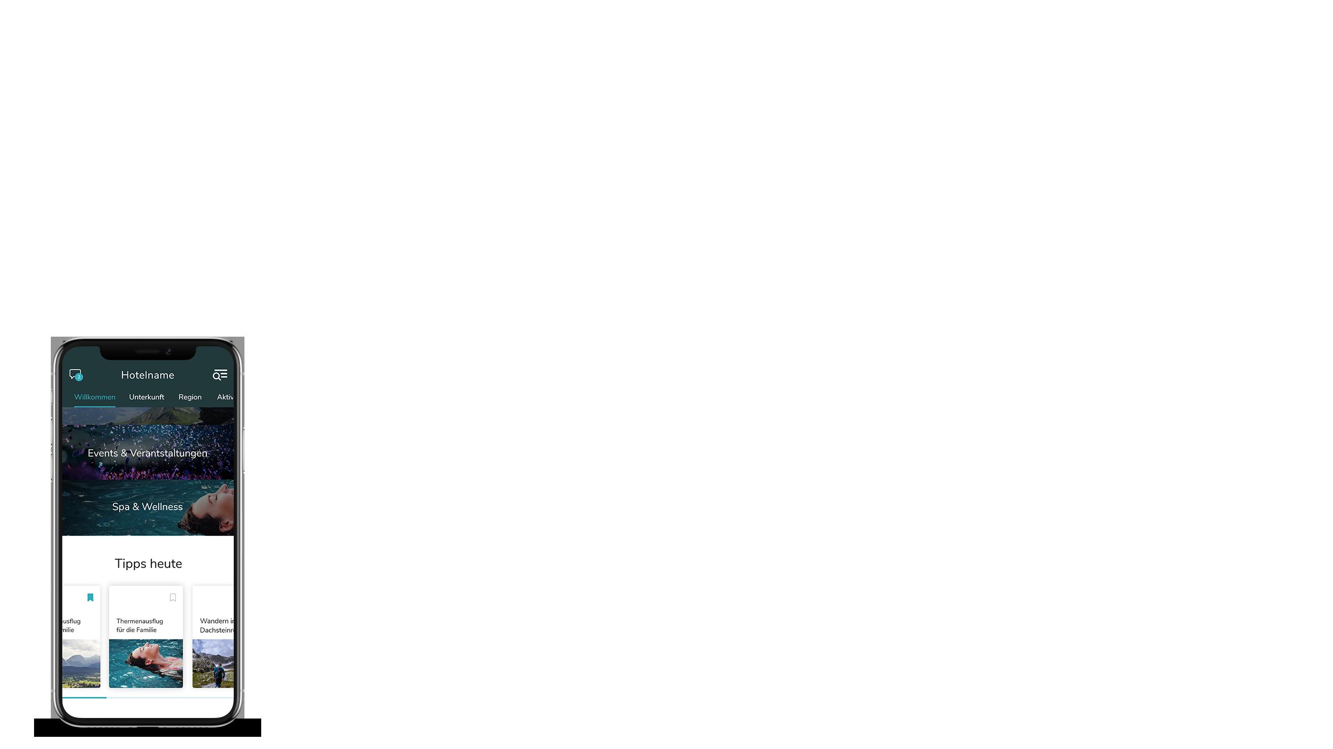 iPhone Ansicht der App