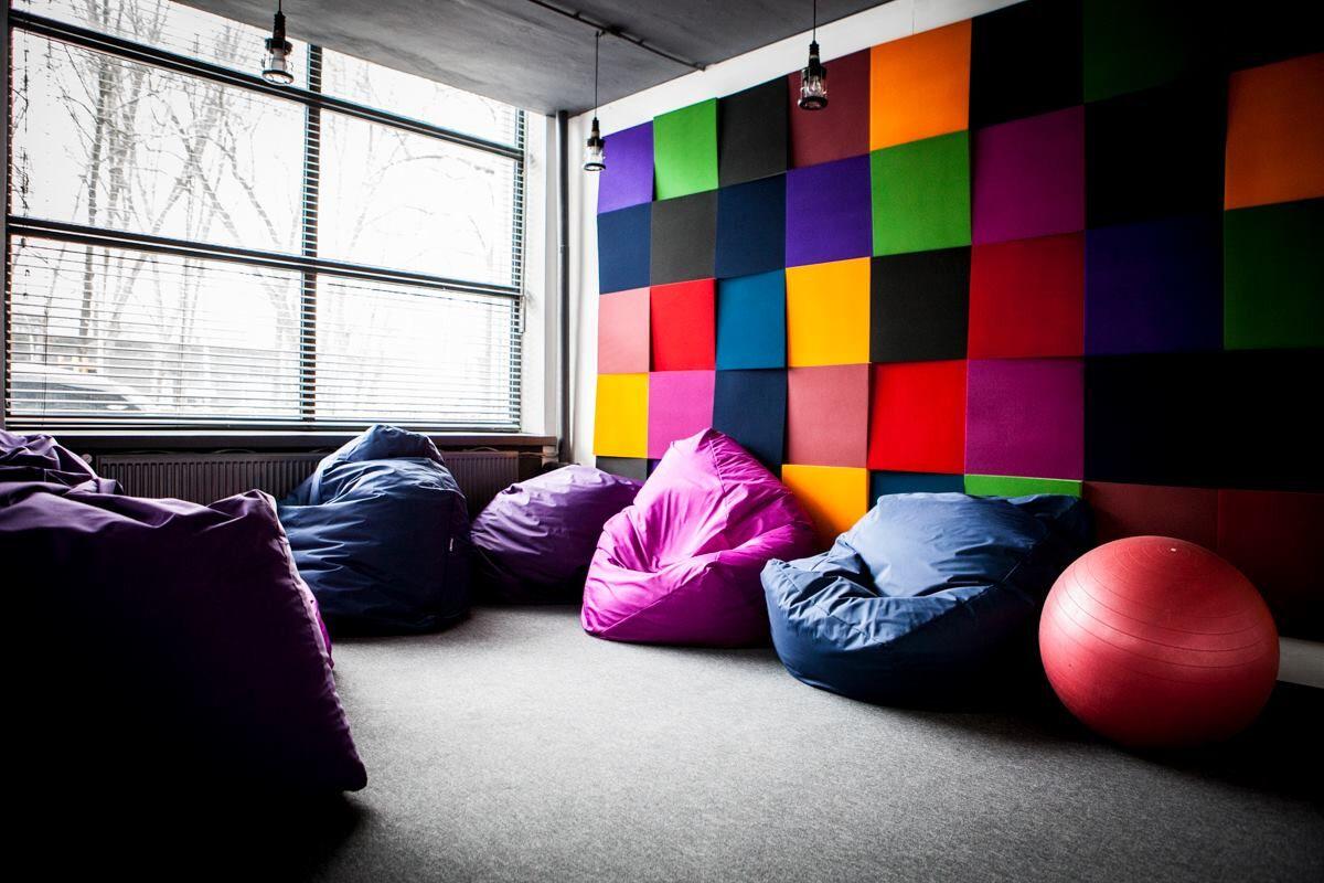 multicoloured wall art