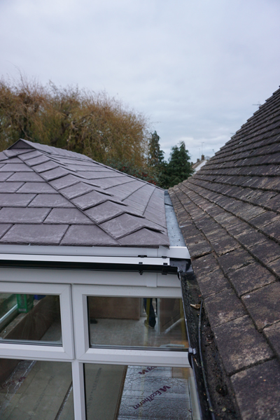 conservatory roof build
