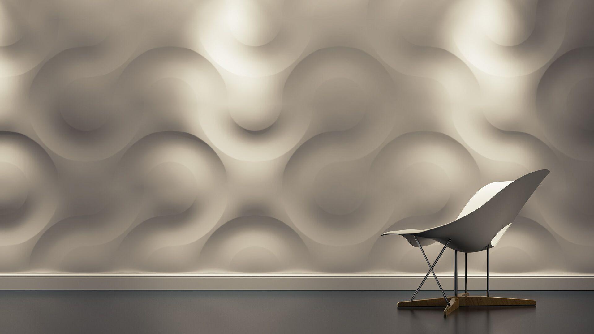 white 3d wall art