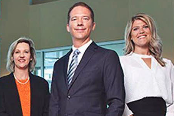 Christy Stewart, FNP; Monty Trimble, MD: Erin Hattey, AuD