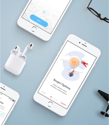 enterprise mobile app screens