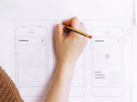 wireframing process