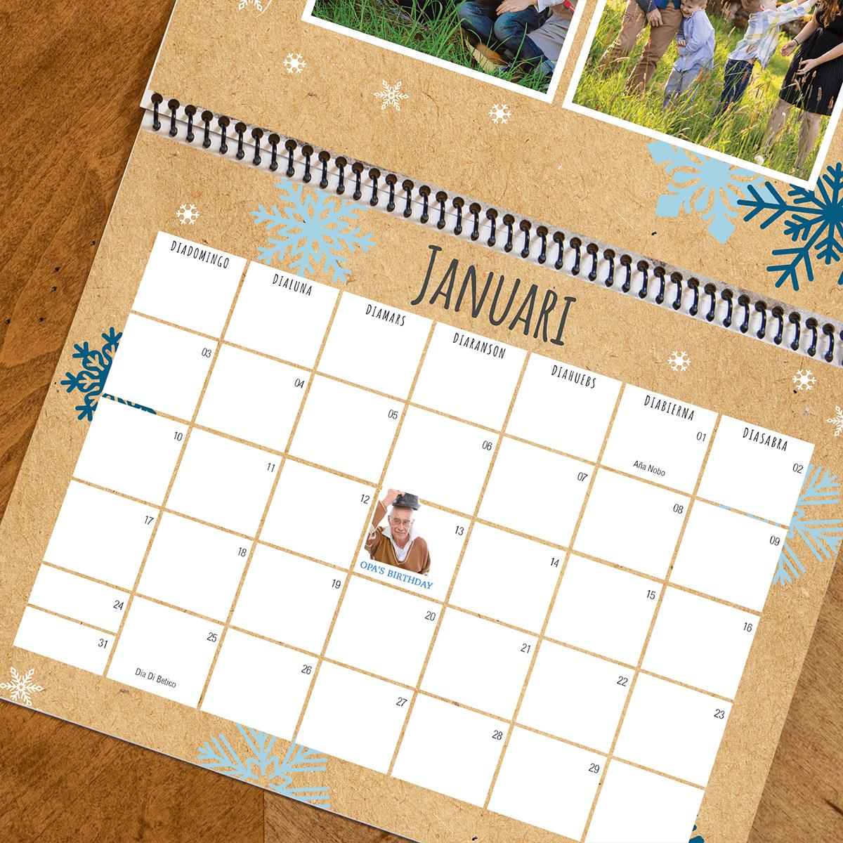 Aruba Kraft Wall Calendar