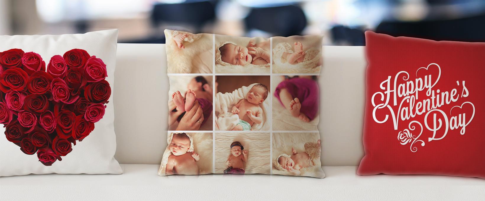 Heart & Rose Photo Pillows