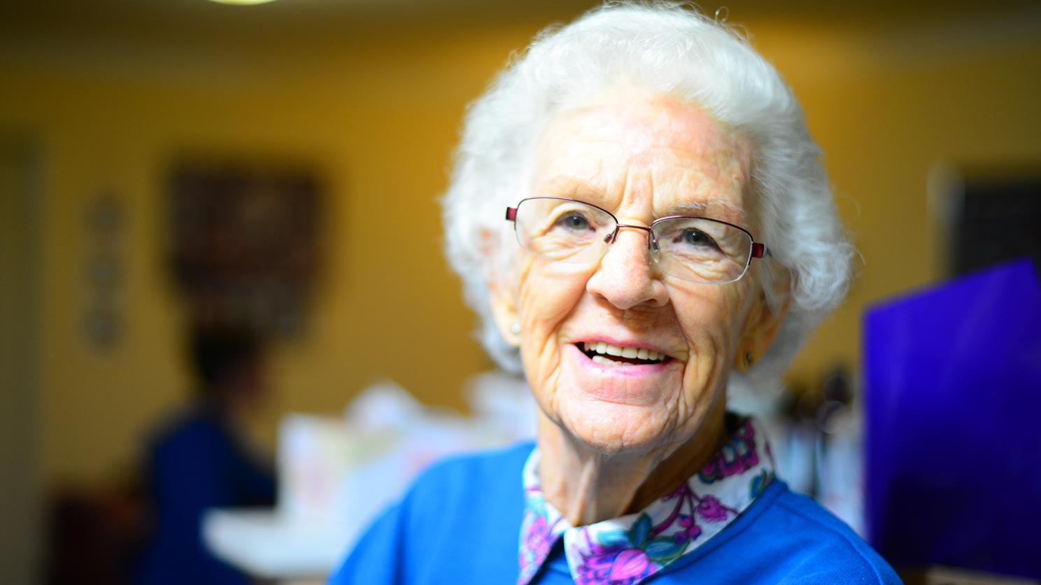 Cheerful senior