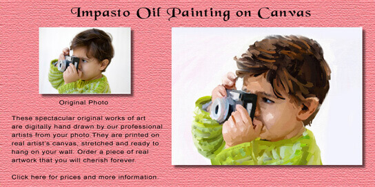 Impasto Oil Painting on Canvas