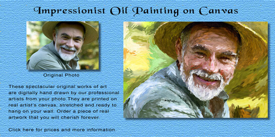 Impressionist Oil Painting on Canvas