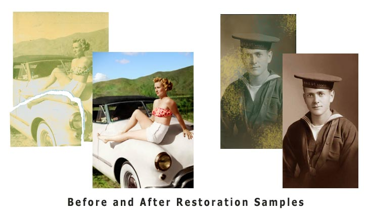 Photo Retouching, Restoration & Colorization