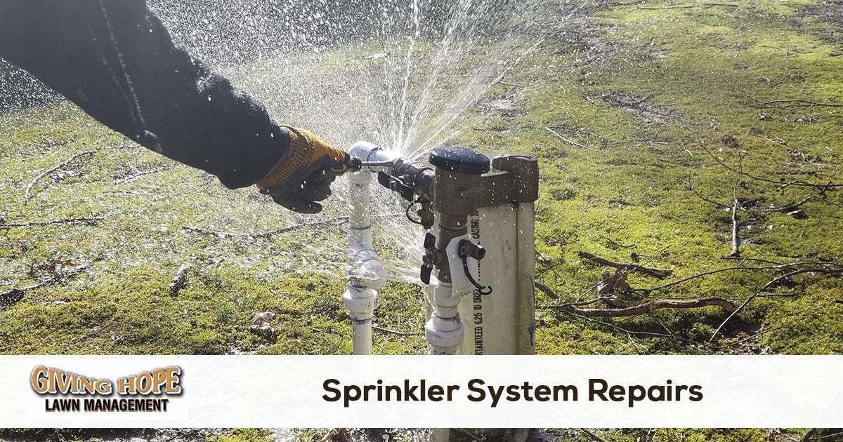 Irrigation system repair service