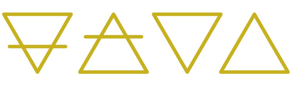 Image of the symbols of the 4 Alchemical Elements