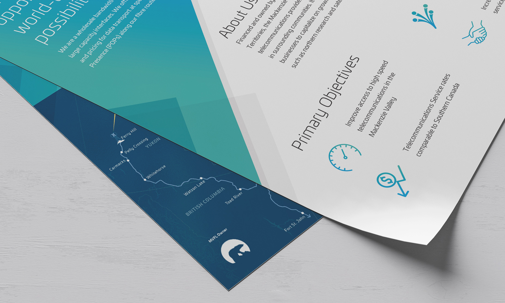 Example of flat sheet design for Mackenzie Valley Fibre Link.