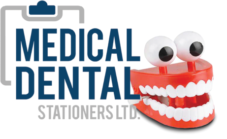 Medical Dental Stationers log and mascott