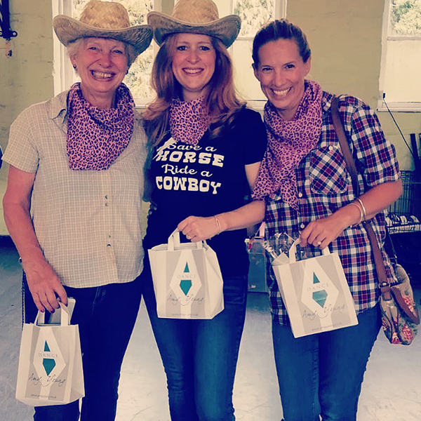 Amy Young dance calss for Bath hen party with their gift bags after the event.