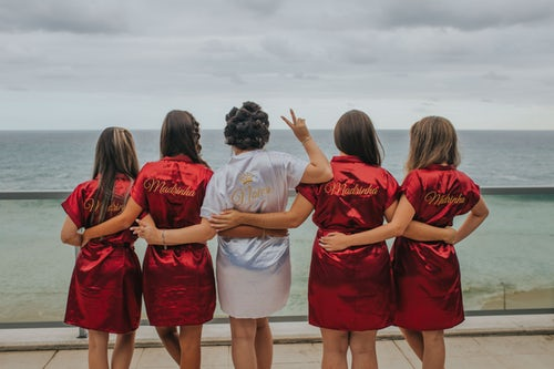Bridesmaids together