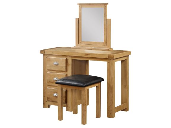 Newbridge Oak Dressing Table Set With Mirror