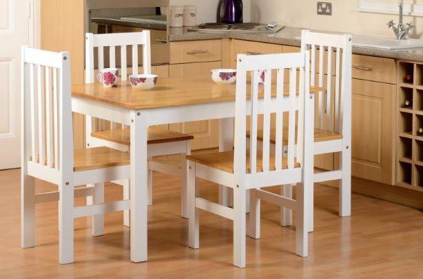 Ludlow White Dining Set