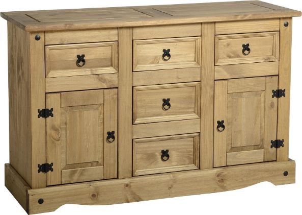 Corona 5 Drawer Sideboard