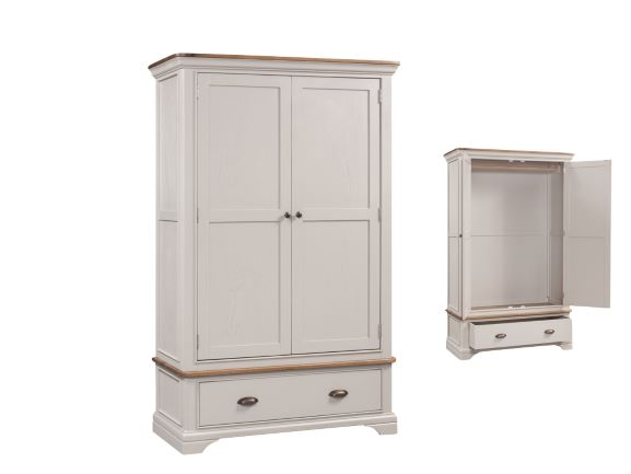 Lyon Painted Double Wardrobe