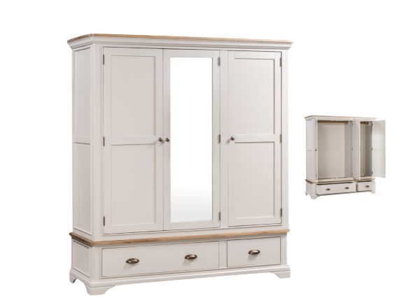Lyon Painted Triple Wardrobe