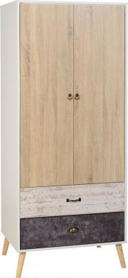 Nordic 2 Door 2 Drawer Wardrobe