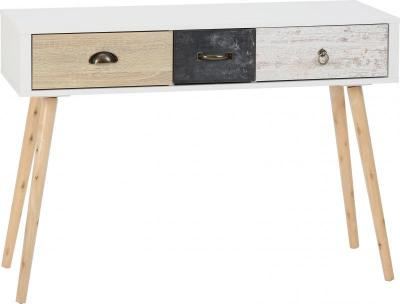 Nordic 3 Drawer Console