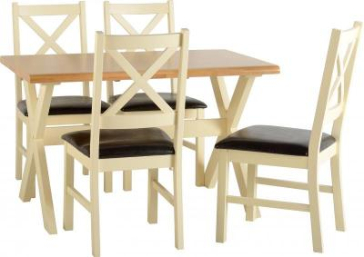 Portland Cream Dining Set