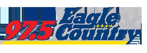 97.5 Eagle Country logo