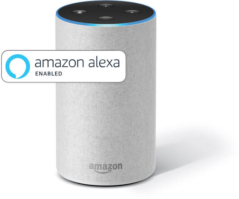Visual of a Amazon Alexa device