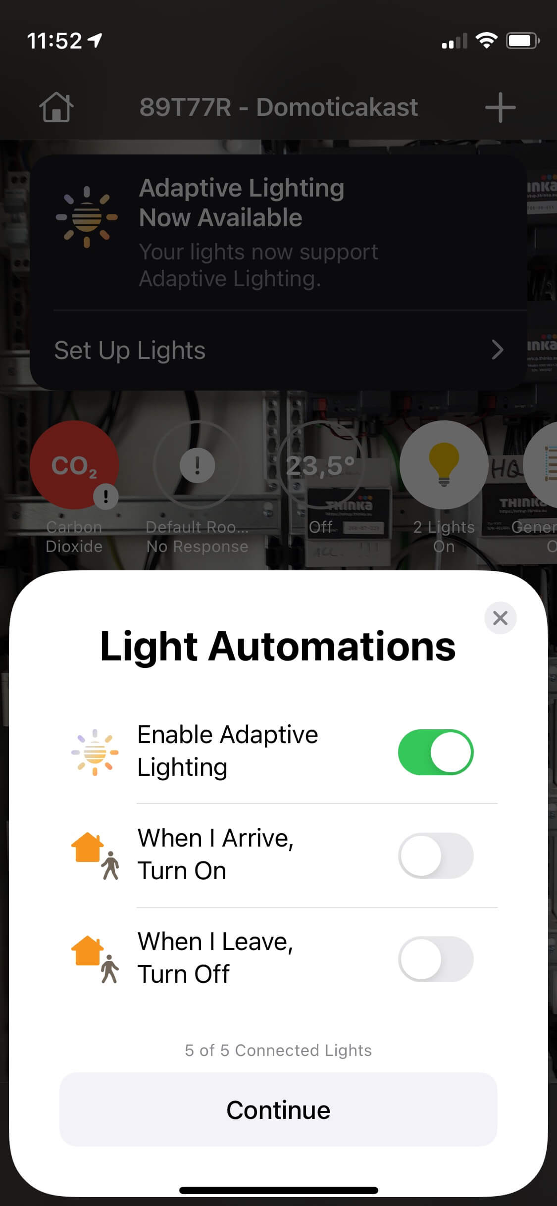 Adaptive Lighting turn on automation image
