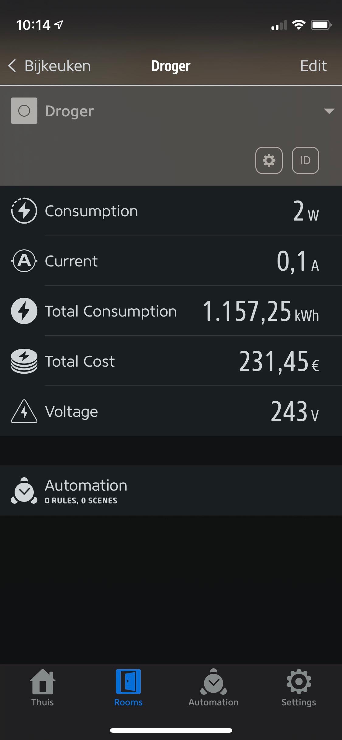 Thinka energy monitoring example