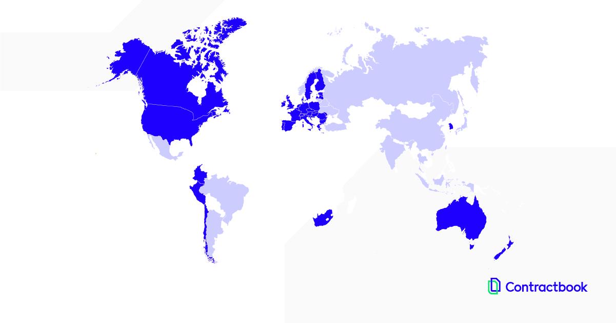 Verdenskort over gyldighed af digital signatur