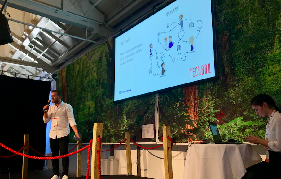 Our CPO pitching at TechBBQ
