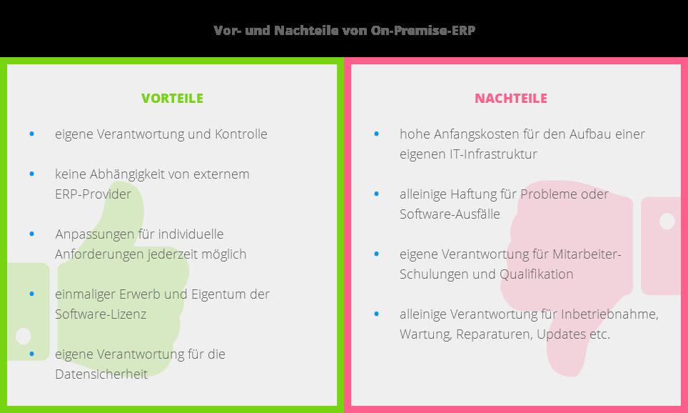 Die Vor- und Nachteile von On-Premise-ERP im Überblick