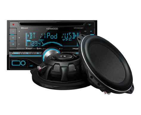 car radio and speaker