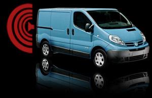van with reverse camera beeping