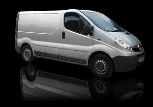 silver van