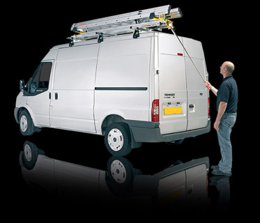 van with fitted ladder on top
