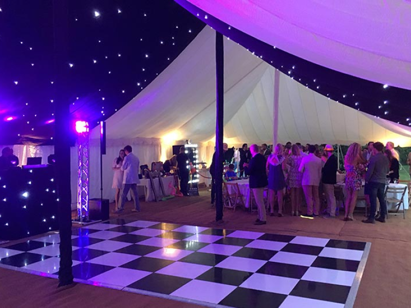 Party Marquee Black Tie