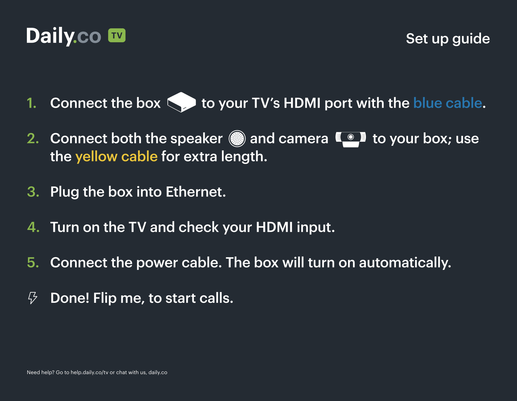 How to set up TV video conferencing in minutes: Our Daily co TV