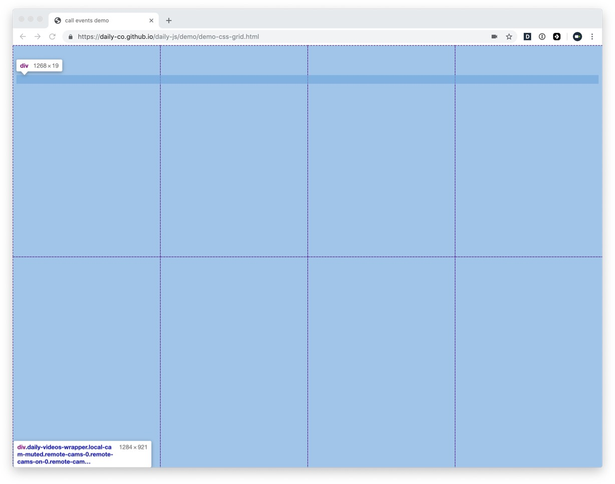 CSS Grid overlay when inspecting demo