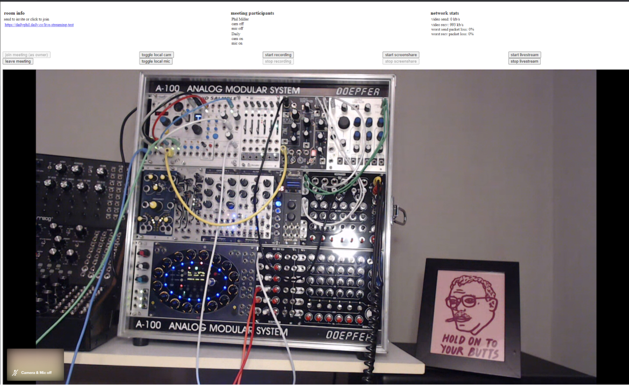Streaming view of modular synth