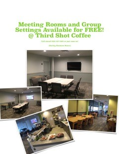 different meeting rooms available at Third Shot Coffee