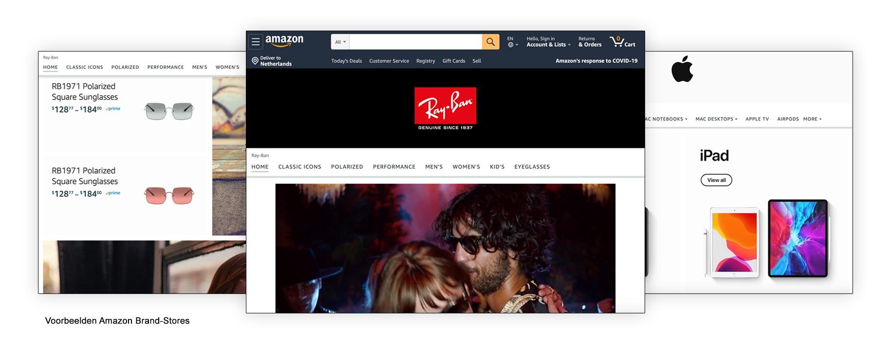Voorbeelden Amazon Brand-Stores