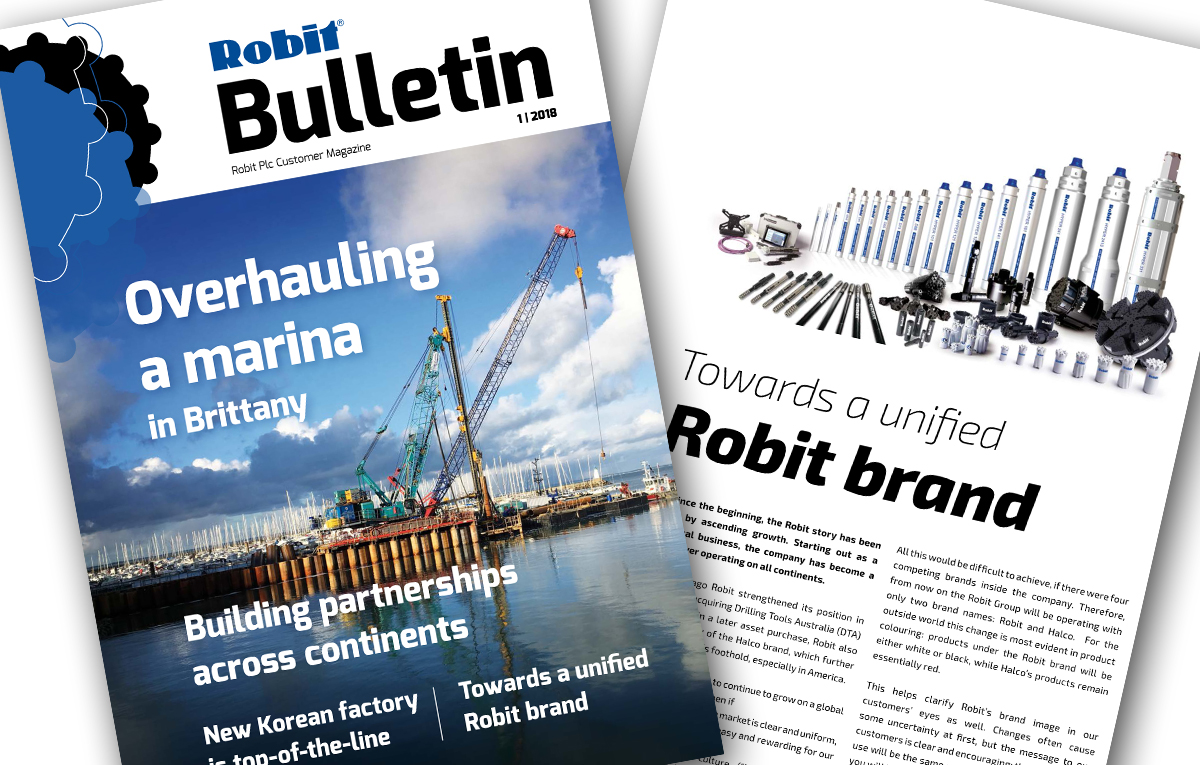 Robit Bulletin 1/2018 magazine published