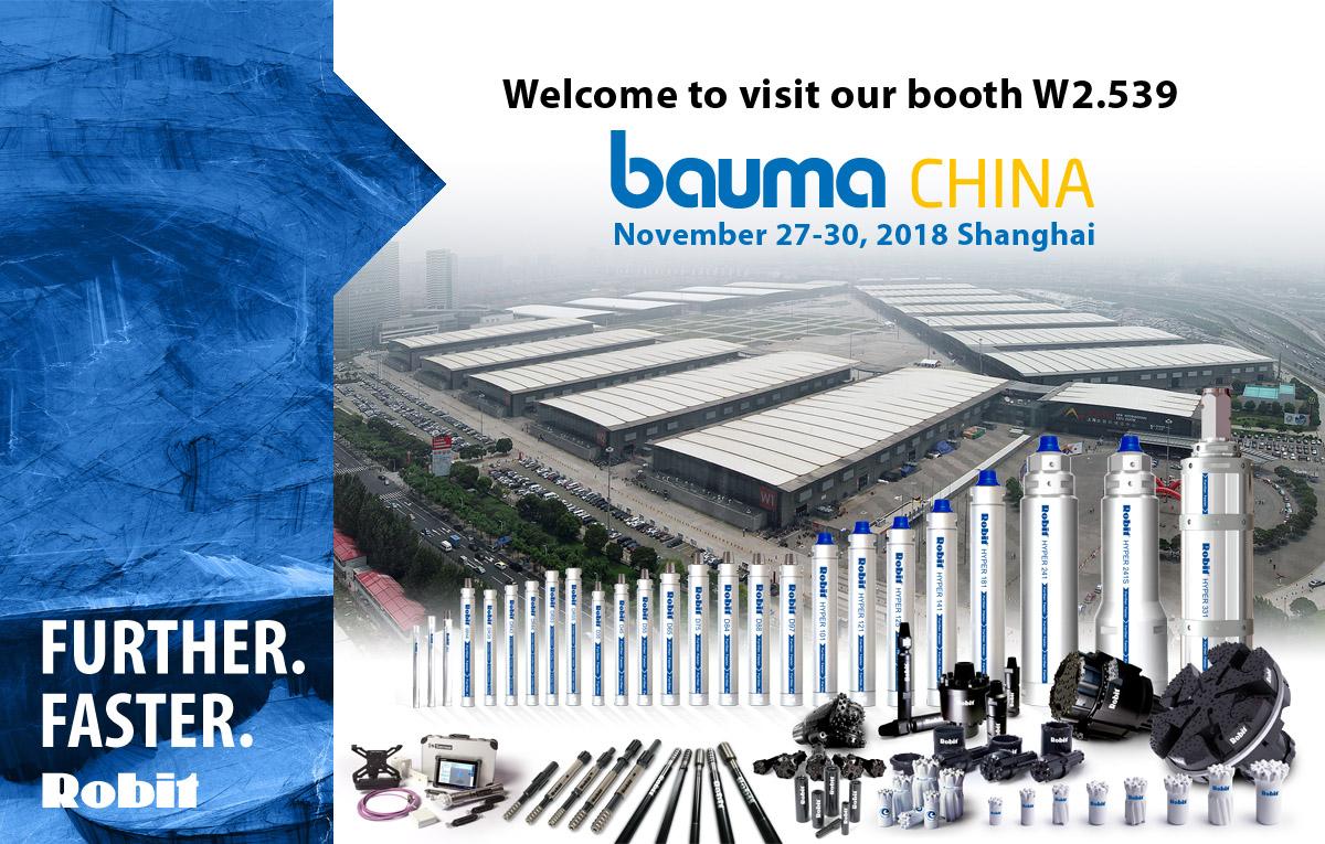 Please visit us at our Bauma China booth #W2.539, 27-30 November