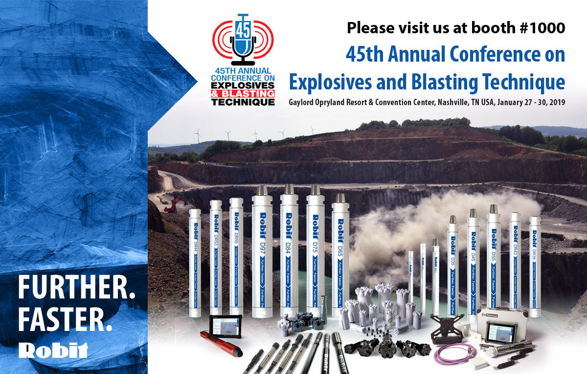 Welcome to Nashville – 45th Annual Conference on Explosives and Blasting Technique