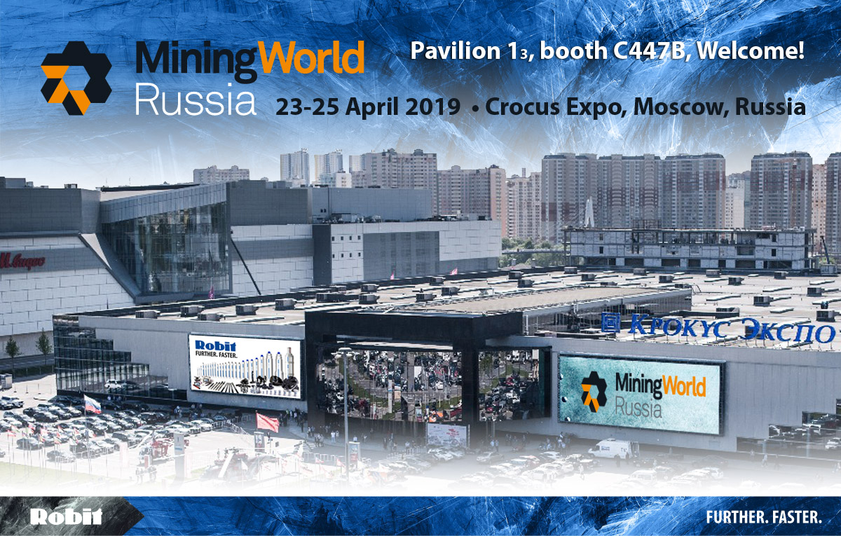 Robit team looks forward to meeting you in Mining World Russia 2019
