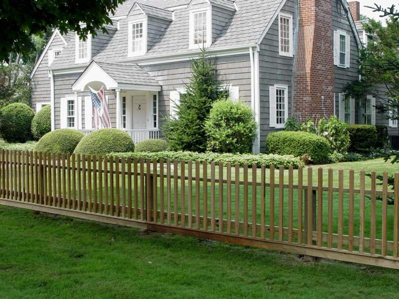 Wood fence installed in Southampton NY